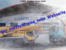 Tablet Preview of haberl-holzbau.de